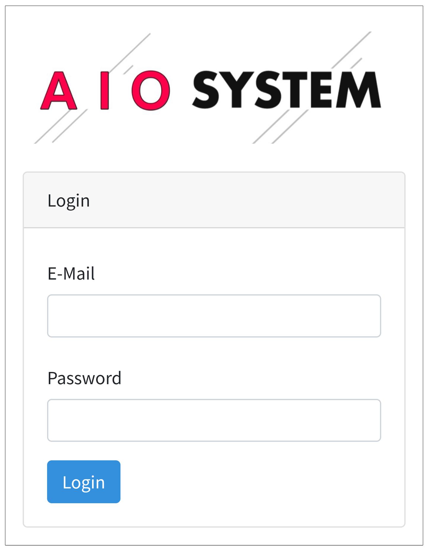 AIO SYSTEMログインフォーム